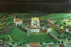 Макет Острозького замку. Вид з боку міста