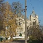 Костел у Шумську. Фото з вікна автобуса
