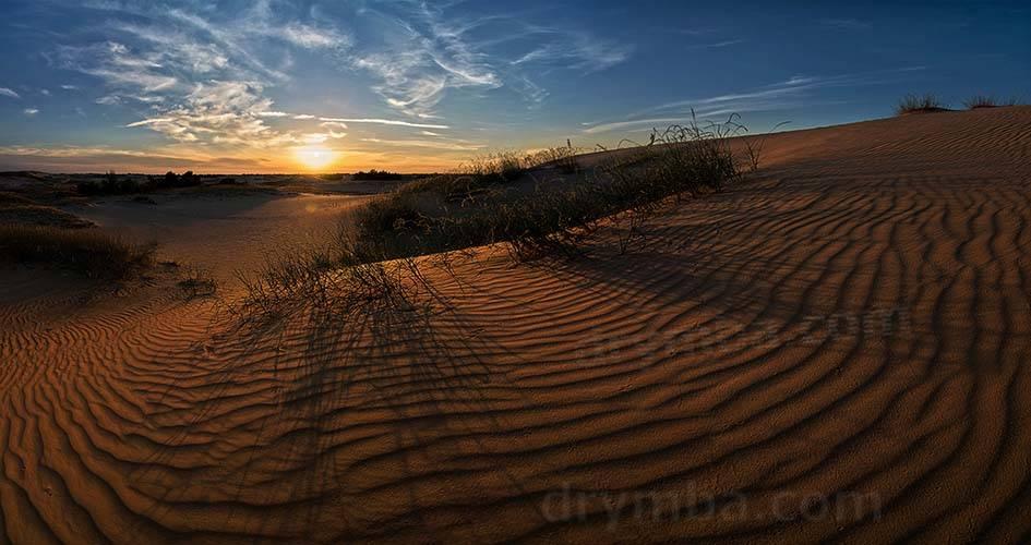 Олешківські піски. Захід сонця