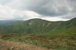 Гора Брескул з підйому на Говерлу