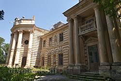 Коропець. Палац графа Казимира Бадені. Парковий фасад