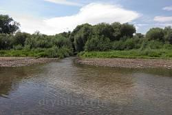 Гирло річки Коропець поблизу однойменного селища