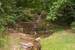 Возилівські водоспади. Нижній каскад