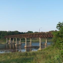 Мост через Днестр (с.Лука - с.Незвиско, Ивано-Франковская обл.)