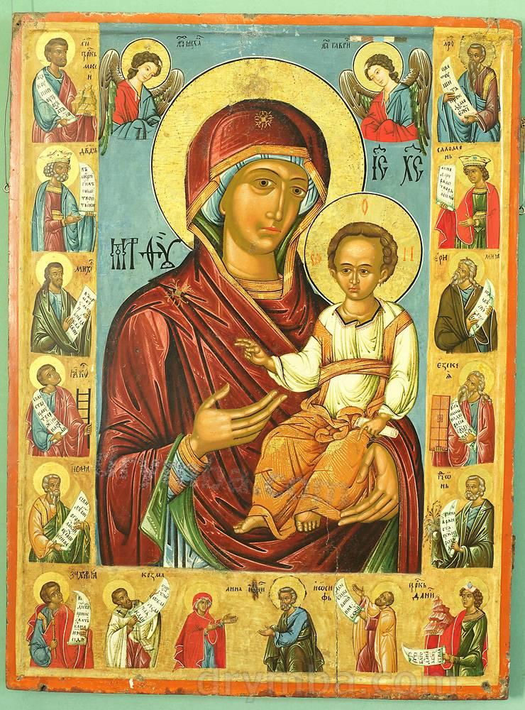 Икона Богородицы со святыми