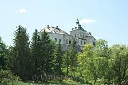 Вид на Олесский замок из парка