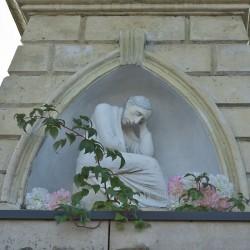 Скульптура на могилі пані Матильди