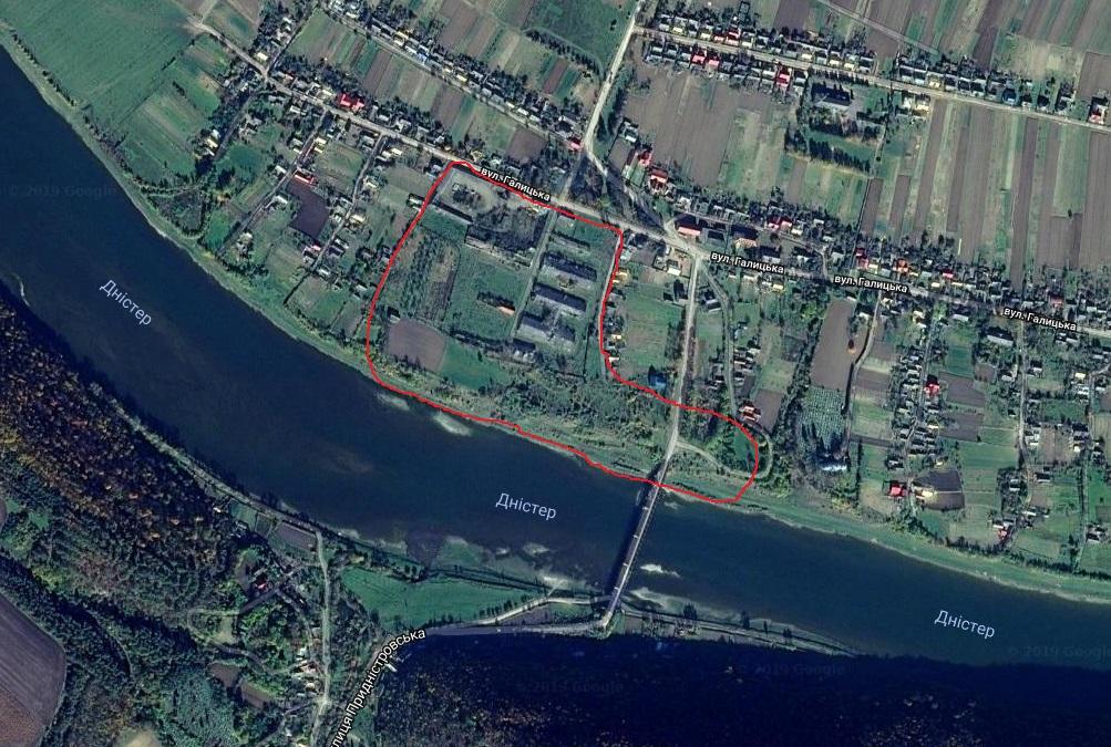 Территория имения на спутниковом снимке