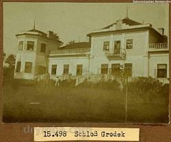 Палац Дунін-Борковських у Городку. Архівне фото 1915 року