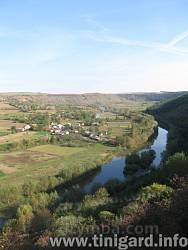 Вид на долину Серета та село Мушкарів