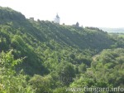 Вид на монастырь с севера, из долины р. Серет