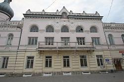Народний дім у Борщеві. Бічний фасад