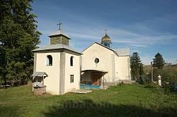 Гологори. Церква Пресвятої Трійці з дзвіницею