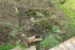 Остатки водяных желобов и турбины