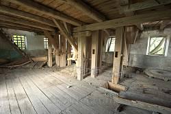 Село Гологоры. Внутри старой мельницы