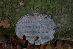Табличка с могилы Мартина Блаховского