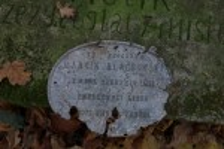 Табличка з могили Мартина Блаховського
