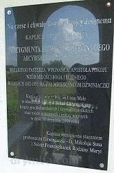 Інформаційна таблиця польською мовою
