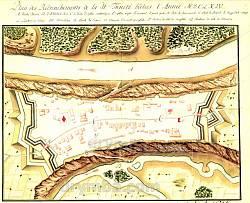 """План фортеці """"Окопи Святої Трійці"""". Давня гравюра"""