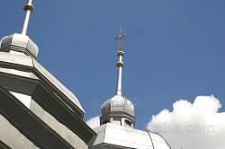 Хрес над центральним куполом