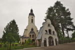 Костел (сейчас церковь) и колокольня в Брюховичах