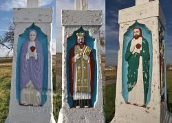 Рельєфи - Пресвята Богородиця, Святий Миколай, Ісус Христос