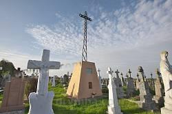 Соколівка. Могила о.Володимира Кальби, хрест-пам'ятник