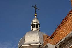 Современный купол на храме