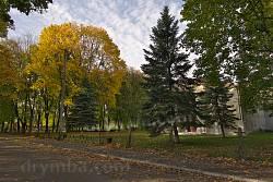 Центр Соколовки осенью